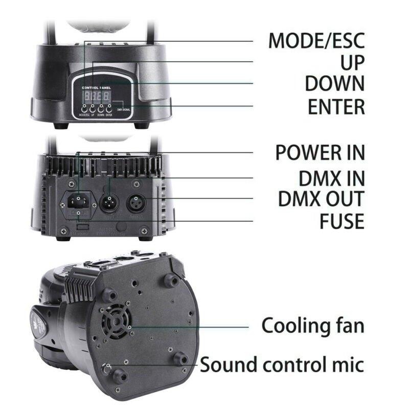 U`King Bühnenlicht 7 LED RGBW 70W Moving Head Party Disco DJ DMX Fernbedienung