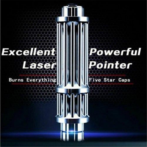 U`King High Power 445nm Focusing Blue Beam Laser Pointer Pen Burn Match 5MW